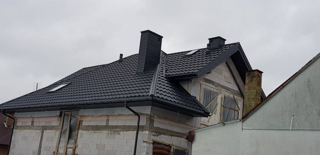 Blachodachówka modułowa Scandinavia grafit ceramic matt